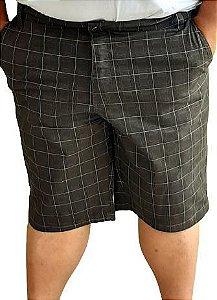 Bermuda Elastano  Masculina Plus Size Escocia Bigmen