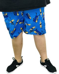 Short Masculino  Plus Size  Estampa Whisky  I09