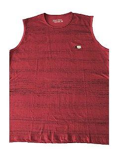 Camiseta Regata Plus Size Masculina Vermelha Machão  B08