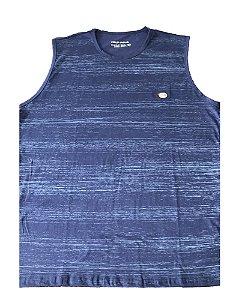 Camiseta Regata Plus Size Masculina Azul Machão B09