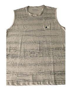 Camiseta Regata Plus Size Masculina CINZA CLARO  B09