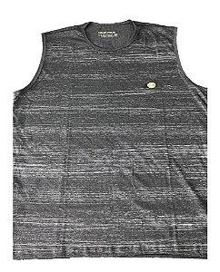 Camiseta Regata Plus Size Masculina Cinza Machão B09