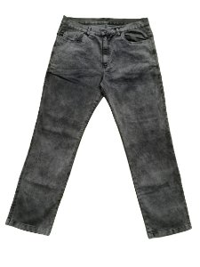 Calça Plus Size Bigmen Masculina Jeans Estonada Preta
