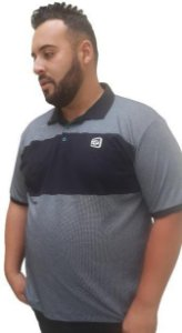Camisa Polo Masculina Plus Size Gangster