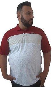 Camisa Polo Masculina Plus Size Gangster Mescla