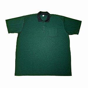 Camisa Polo Masculina Plus Size Dry Verde E 05/06