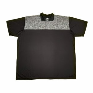 Camisa Polo Masculina Plus Size Dry Preta E05/06