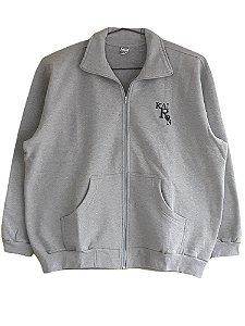 Jaqueta de Moleton Plus Size Masculina Bigemen Mescla