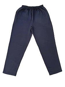 Calça Plus Size Masculina Moletom BigMen Azul Marinho