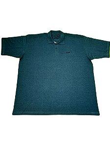 Camisa Polo Masculina Plus Size Azul Blue