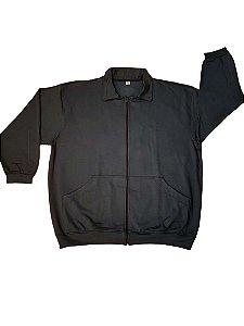 Jaqueta de Moleton Plus Size Masculina Bigmen  Azul