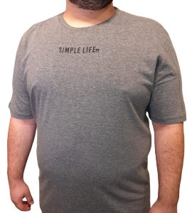 Camiseta Plus Size Masculina Austin Life Simple Life
