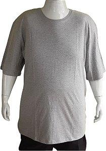 Camiseta Plus Size Masculina Austin Life Cinza Mescla
