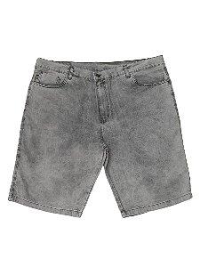 Bermuda Masculina Plus Size Jeans Preta Estonada