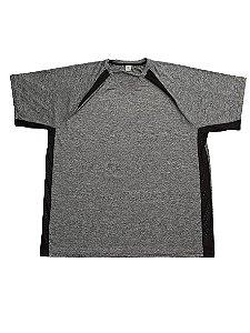 Camiseta Plus Size Masculina Bigmen DRY Sport Cinza Detalhes V
