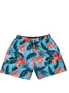 Short Praia Folhas Masculino Plus Size