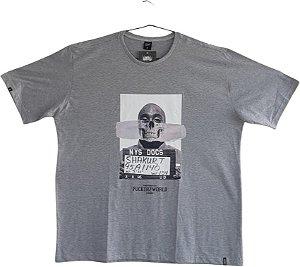 Camiseta  Chronic Masculina Plus Size  2pac
