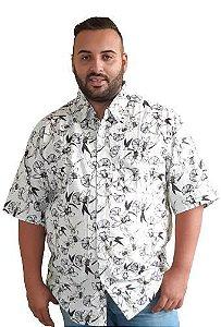 Camisa Algodão Masculina Plus Size Mescla Bigmen