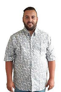 Camisa  Algodão Masculina Plus Size estampada Bigmen