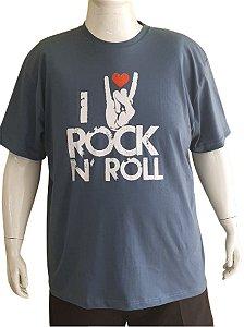 Camiseta Plus Size  Series Images azul Rock Bigmen  G4/G8
