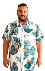 Camisa Estampada Masculina Plus size Masculina