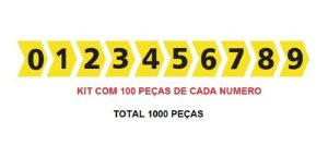 ANILHA MHG-3/7 100 PÇS DE CADA NUMERO