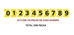 ANILHA MHG-4/9 100 PÇS DE CADA NUMERO