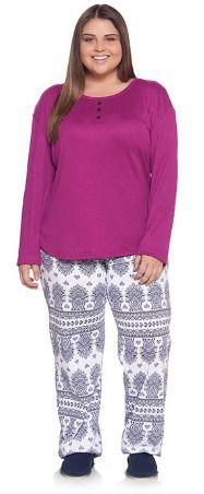 Pijama com blusa ribana mensageiro dos sonhos