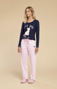 Pijama Inverno em Algodao Mensageiro dos Sonhos