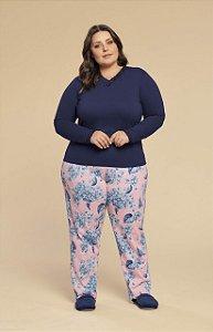 Pijama Inverno Plus Size Mensageiro dos Sonhos