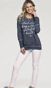 Pijama Inverno Manga Longa Cor com amor