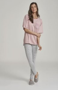 Pijama com Legging e manga curta Cor com amor