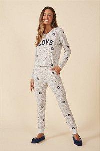 Pijama Manga Longa Ovelhas Mensageiro dos Sonhos