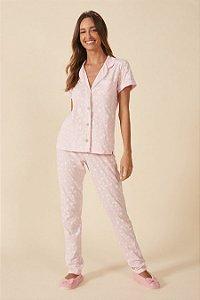 Pijama Botões Manga Curta Mensageiro dos Sonhos