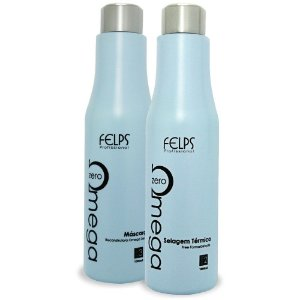 Kit Escova Progressiva Omega Zero Sem Formol Felps 2x1000ml