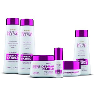 Super Kit Desmaia Cabelo     Shampoo, Condicionador, Máscara, Gloss, Leave-in, Pomada gratis