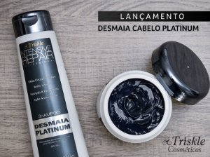 kit Desmaia Platinum shampoo 350ml mask 300g