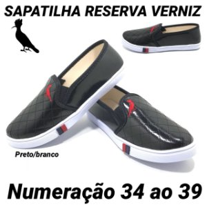 Sapatilha Reserva Verniz Feminina