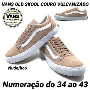 Tênis Vans Old Skool Couro Vulcanizado Unisex