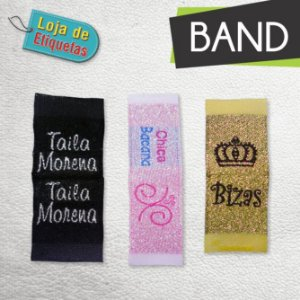 Etiqueta bordada Bandeirinha - Lurex (Com Brilho)