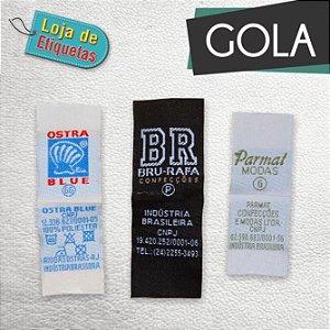 Etiqueta bordada Gola - Tafetá