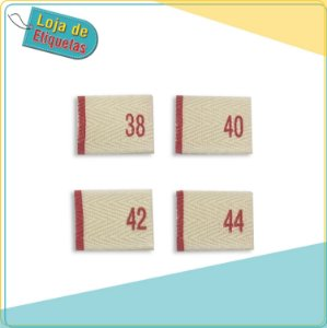 Etiqueta de Sarja Estampada de Numeração (Pronta Entrega - 100 unidades)