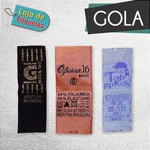Etiqueta bordada Gola Alta Definição - Lurex (Com Brilho)