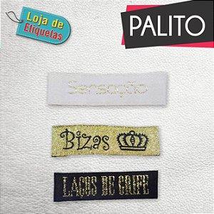 Etiqueta bordada Palito - Lurex (Fio Brilhante) Alta Definição