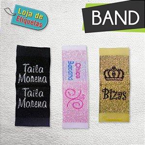 Etiqueta bordada Bandeirinha (Lateral) - Lurex (Com Brilho) (500 peças)