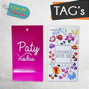 Tag's Personalizados 4/1 (1.000 peças) + 48x88mm