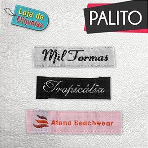 Etiqueta bordada Palito - TAFETÁ