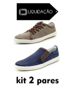 Kit 2 Pares Sapatênis  Masculino New York Orlandelli