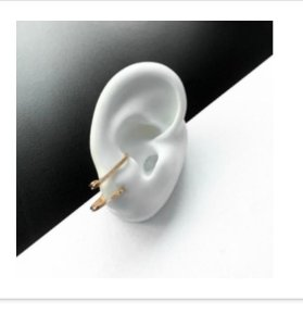 ear hook duplo microzircônias dourado