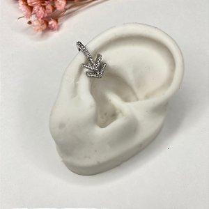 piercing de pressão seta prata